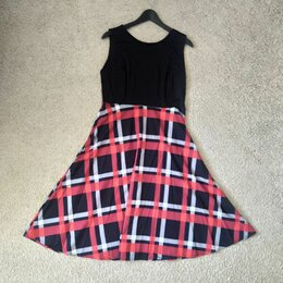 Платья - Платье чёрно-красное, 0