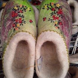 Домашняя обувь - Войлочные тапочки женские, 0