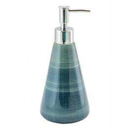 Мыльницы, стаканы и дозаторы - Дозатор для жидкого мыла PRATA SWTK-6070BL-A синий, керамика, 0