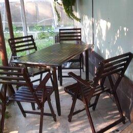 Комплекты садовой мебели - Комплект садовой деревянной мебели новый, 0