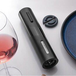 Штопоры и принадлежности для бутылок - Электрический штопор пластик, чёрный, 0