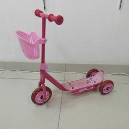 Самокаты - Самокат детский розовый 3-х колёсный, 0