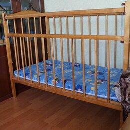 Кроватки - Кроватка детская деревянная простая, 0