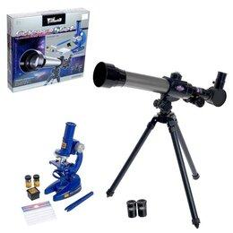 Детские микроскопы и телескопы - Набор учёного 'Телескоп и Микроскоп', свет, 3-х кратное увеличение, 0