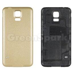 Корпусные детали - Задняя крышка для Samsung G900F Galaxy S5 (золото), 0