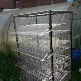 Клетки и домики - продам клетку для перепелов с кормушками 5 ярусов на 150 перепелов, 0