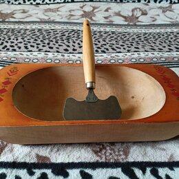 Аксессуары для готовки - Корыто деревянное и сечка для рубки , 0