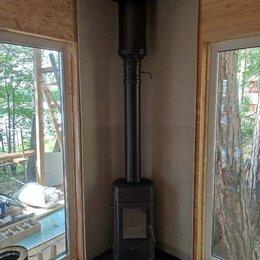 Дымоходы - Дымоход для печи длительного горения чёрного цвета , 0