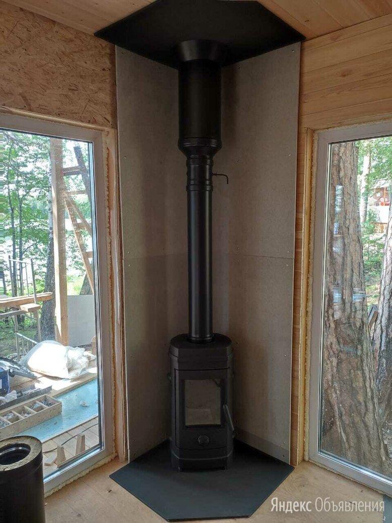 Дымоход для печи длительного горения чёрного цвета  по цене 6000₽ - Дымоходы, фото 0