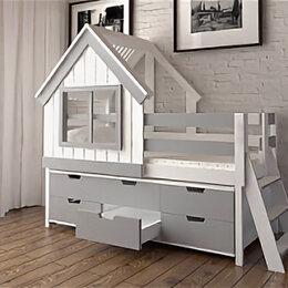 Кровати - Кровать-домик ЛегкоМаркет GreenWood 2 (с лестницей), 0