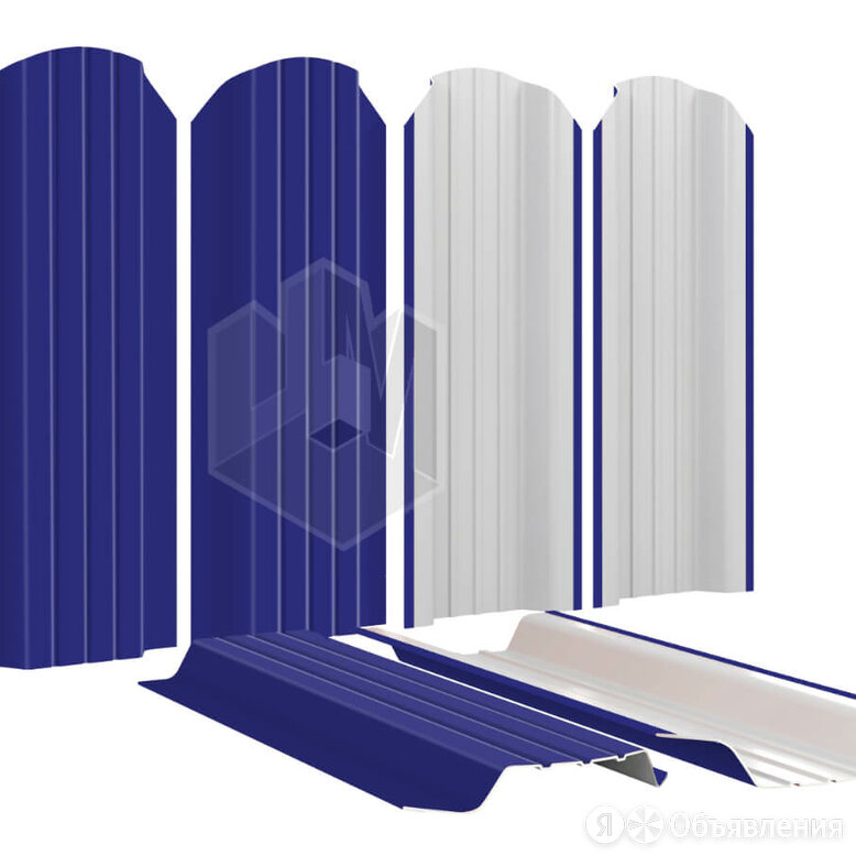 Штакетник для забора Широкий 115мм RAL5002 Синий Ультрамарин высота 1.25 мет... по цене 224₽ - Заборы, ворота и элементы, фото 0
