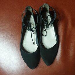 Балетки -  черные балетки, 0