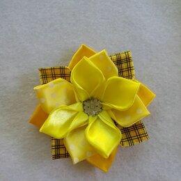 Аксессуары для волос - Солнечный бантик канзаши, 0