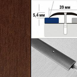 Плинтусы, пороги и комплектующие - Порог декорированный полукруглый А39 39х5,4 мм Махагон, 0