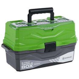 Пылесосы - Ящик для снастей Tackle Box NISUS трёхполочный, цвет зелёный, 0
