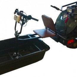 Аксессуары и дополнительное оборудование  - Толкач для мотобуксировщика БУРЛАК - М, М2 подшитый (волокуша подшита пластик..., 0