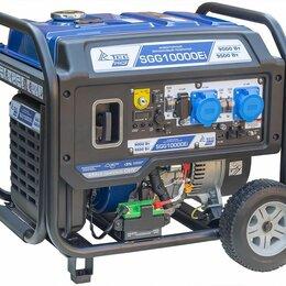 Электрогенераторы и станции - Бензогенератор инверторный SGG 10000Ei с блоком АВР, 0