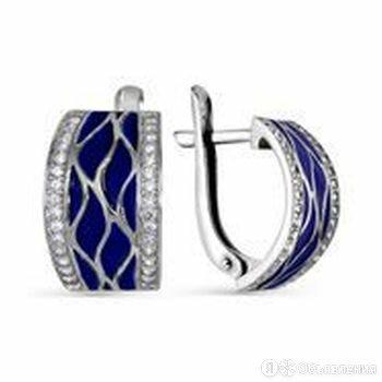 Серьги из серебра с фианитом Алмаз-Холдинг по цене 2455₽ - Серьги, фото 0