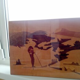 """Картины, постеры, гобелены, панно - Панно """"Лыжница"""" - привезено с Украины., 0"""