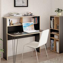 Компьютерные и письменные столы - Базис-3 Стол компьютерный 12.67 Черный/Дуб сонома, 0
