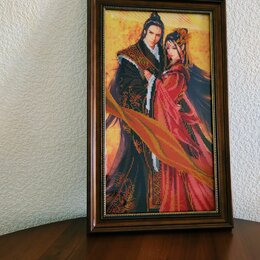 """Картины, постеры, гобелены, панно - Картина бисером"""" Японская пара"""", 0"""