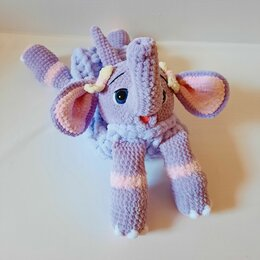 Мягкие игрушки - Мягкая игрушка пижамница слоненок ручной работы, 0