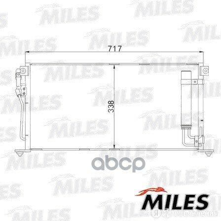 Конденсер Mitsubishi Lancer 1.3/1.6/2.0 03- Miles арт. ACCB058 по цене 6350₽ - Отопление и кондиционирование , фото 0