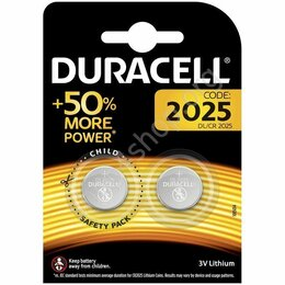Батарейки - Батарейки DURACELL Lithium, CR2025, литиевые, КОМПЛЕКТ 2 шт, в блистере, 0