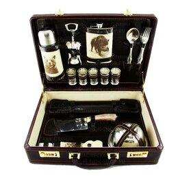 Подарочные наборы - Подарочный шашлычный набор «Подарочный-3А» 42*30*10 см, 0