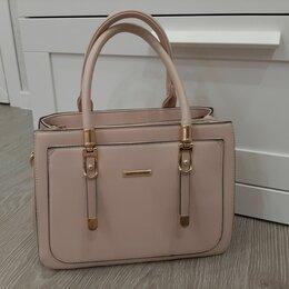 Сумки - Женская розово-бежевая сумка, 0