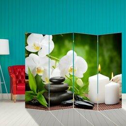 """Ширмы - Ширма """"Белая орхидея"""", 200 × 160 см, 0"""