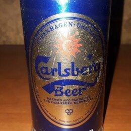 Этикетки, бутылки и пробки - Жестяная пивная банка CARLSBERG, 0
