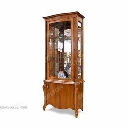 """Кровати - Шкаф с витриной """"Луиза"""" 1-но дв. высокий (правый); коньяк, 0"""