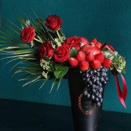 Цветы, букеты, композиции - Цветочные композиции с фруктами и ягодами, 0
