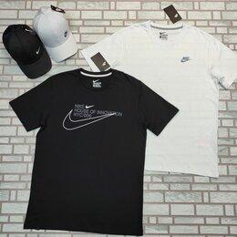 Футболки и майки - Футболка мужская Nike белая, синяя, 0
