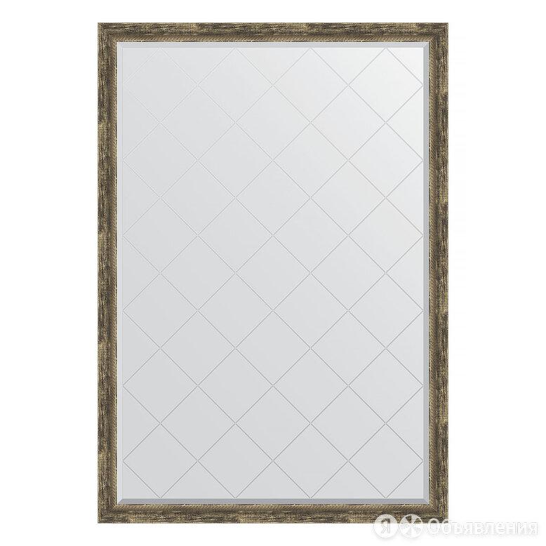 Зеркало с гравировкой в багетной раме - старое дерево с плетением 70 mm (128x... по цене 25849₽ - Мебель, фото 0