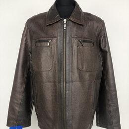 Куртки - Куртка мужская кожа коричневая р.50-52 /10476/, 0