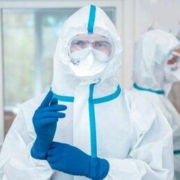 Устройства, приборы и аксессуары для здоровья - Комбинезоны защитные одноразовые для мед персонала, 0