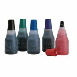 Краски - Краска  Colop синяя, 25мл, на водной основе с глицерином (10/50), 0