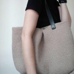 Сумки - Большие вязаные трикотажные сумки, 0