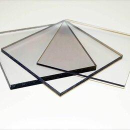 Поликарбонат - Поликарбонат монолитный 1 мм 2,05х1,25 м прозрачный, 0