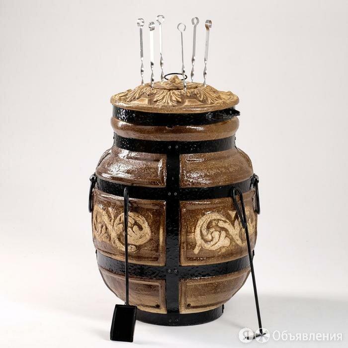 Тандыр большой, h-73 см, d-48 см, 6 шампуров, кочерга, совок по цене 23115₽ - Тандыры, фото 0