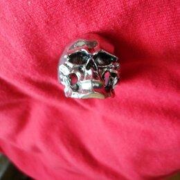 Кольца и перстни - Перстень мужской с черепом, 0