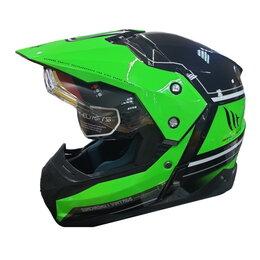 Спортивная защита - Шлем MT SYNCHRONY DUO SPORT VINTAGE gloss black fluo green, 0
