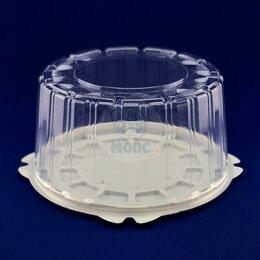 Контейнеры и ланч-боксы - Контейнер для торта одноразовый пластиковый круглый с крышкой Т-218 1/170, 0
