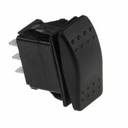 Электроустановочные изделия - Переключатель трехпозиционный (ON)-OFF-(ON) 12В/20А 6Р без фиксации, 0