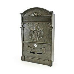 Почтовые ящики - Ящик почтовый металлический №4010 цвет бронза, 0
