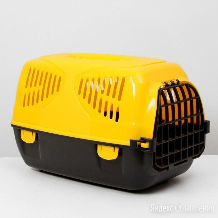 Переноска для животных  'Сириус', 33,5 х 31 х 50 см, цвет жёлтый по цене 1330₽ - Люльки и переноски, фото 0