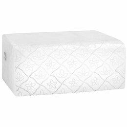 Туалетная бумага и полотенца - Полотенца бумажные листовые V сложения 2 слоя 200 листов, Комфорт ЭКО, 0