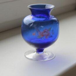 Вазы - Богемия глен вазочка из кобальтового стекла, 0